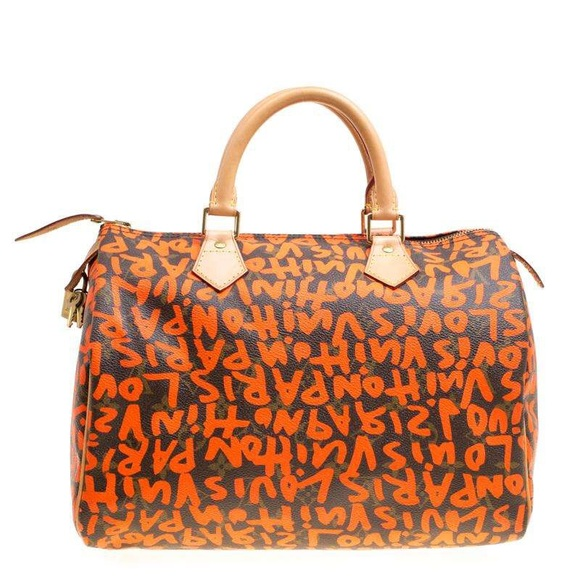 4f7bf4fe6f80 Louis Vuitton Handbags - Louis Vuitton Neon Orange Graffiti Stephen Sprouse